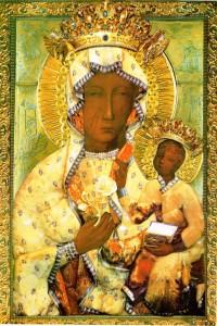 Matka Boża Częstochowska w bursztynowej sukience